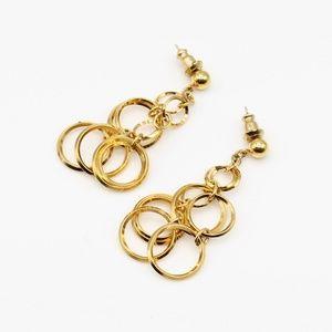 Vintage Trifari gold circle earrings
